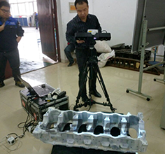 3D inspection of engine chassis