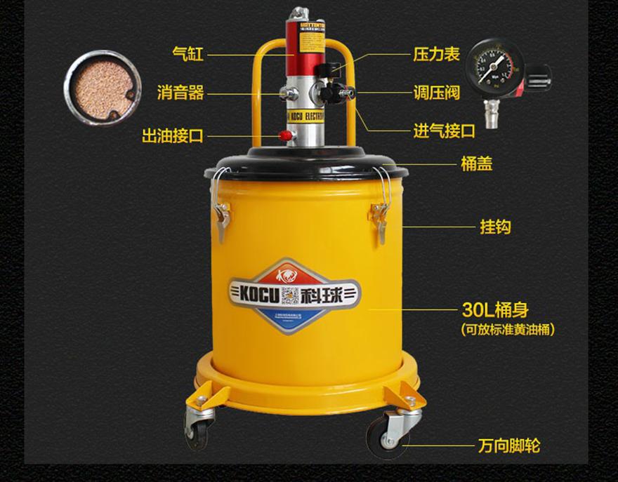 船舶专用高压黄油机GZ-A9 气动黄油枪船厂专用