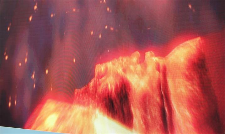 十堰市文化宫展厅LED室内全彩屏专用P7.62全彩单元板(奥马哈)