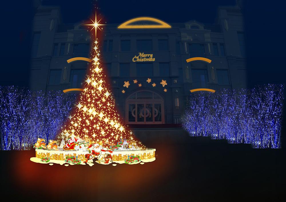 万达公馆圣诞装饰