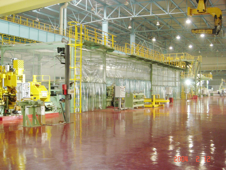 2004 宁波宝新三期工程拉矫机组设备安装