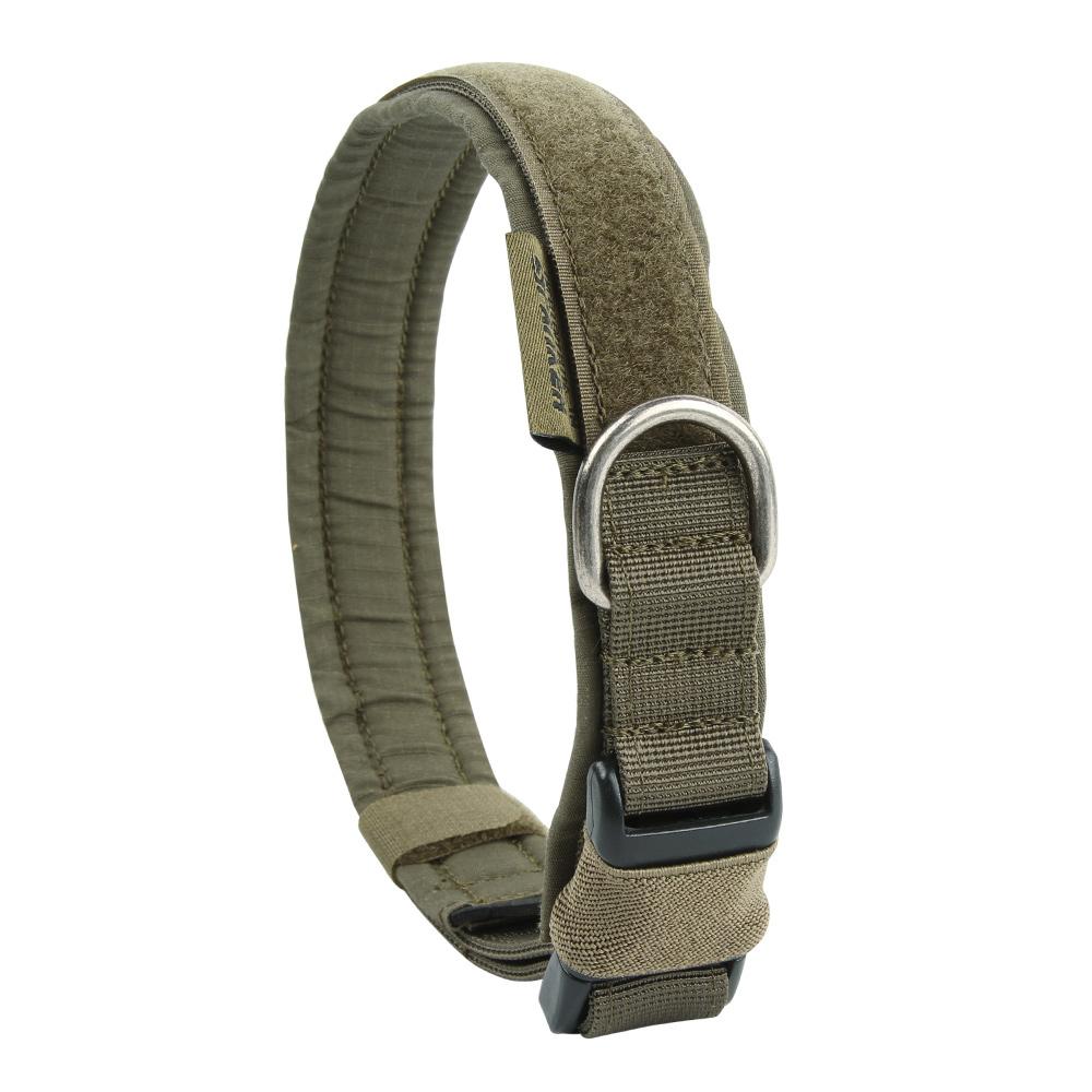 Tactical Dog Collar Military Training Nylon Adjustable Dog Collar for Large Medium Small Dog