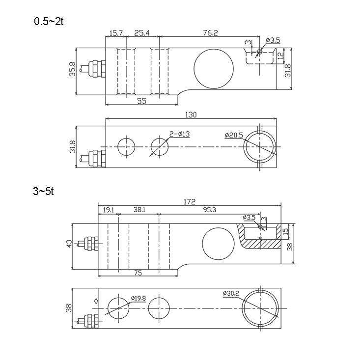 SBC悬臂梁称重传感器 (型号:SBC)