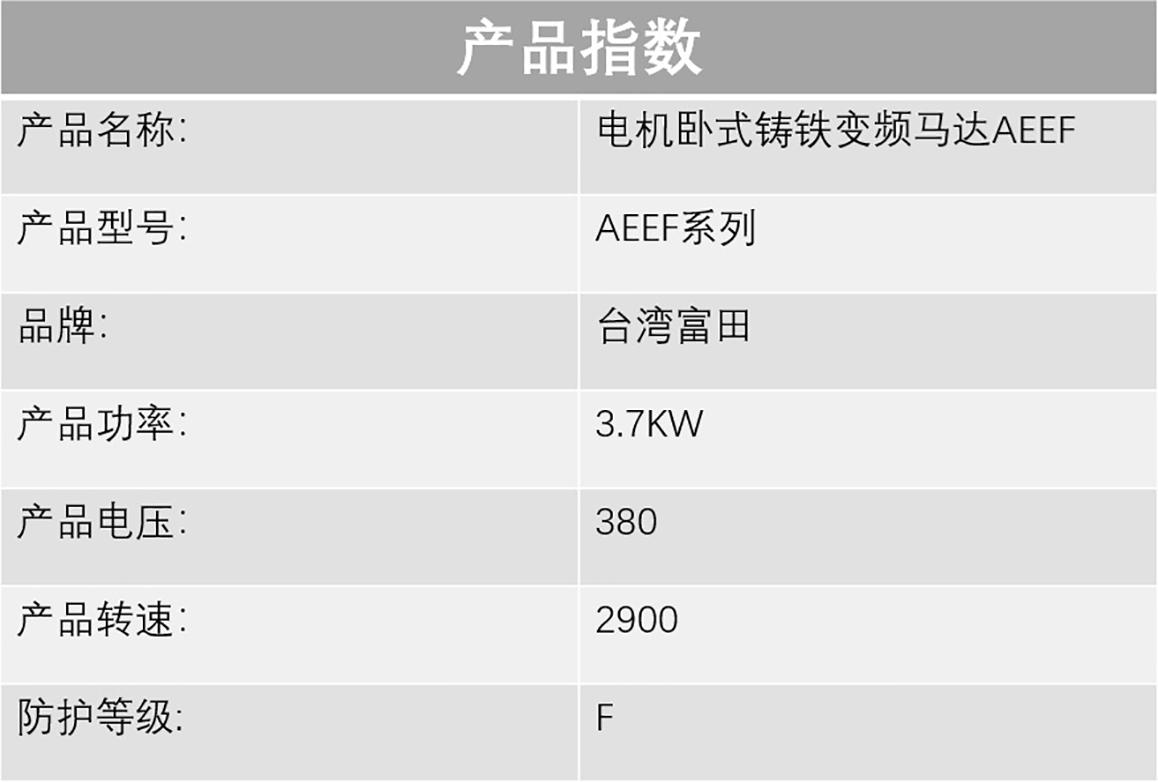 台湾富田【三相异步电动机】电机卧式铸铁变频马达AEEF