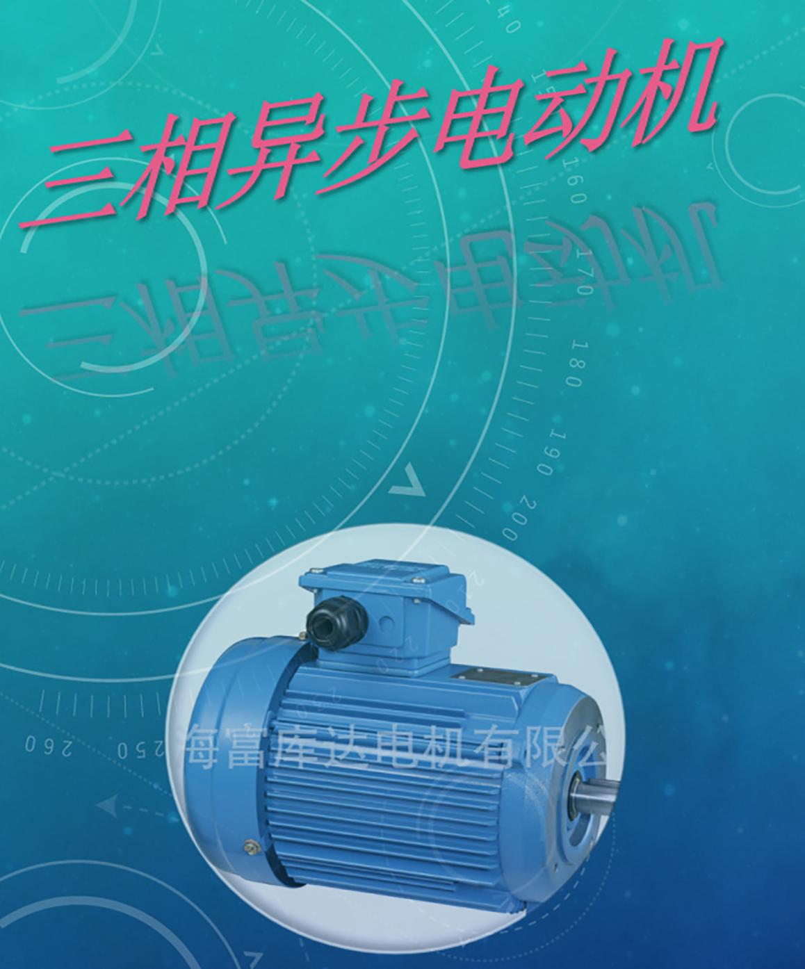 台湾富田电机变频电机三相异步电动机管状电机变频调速电机交流