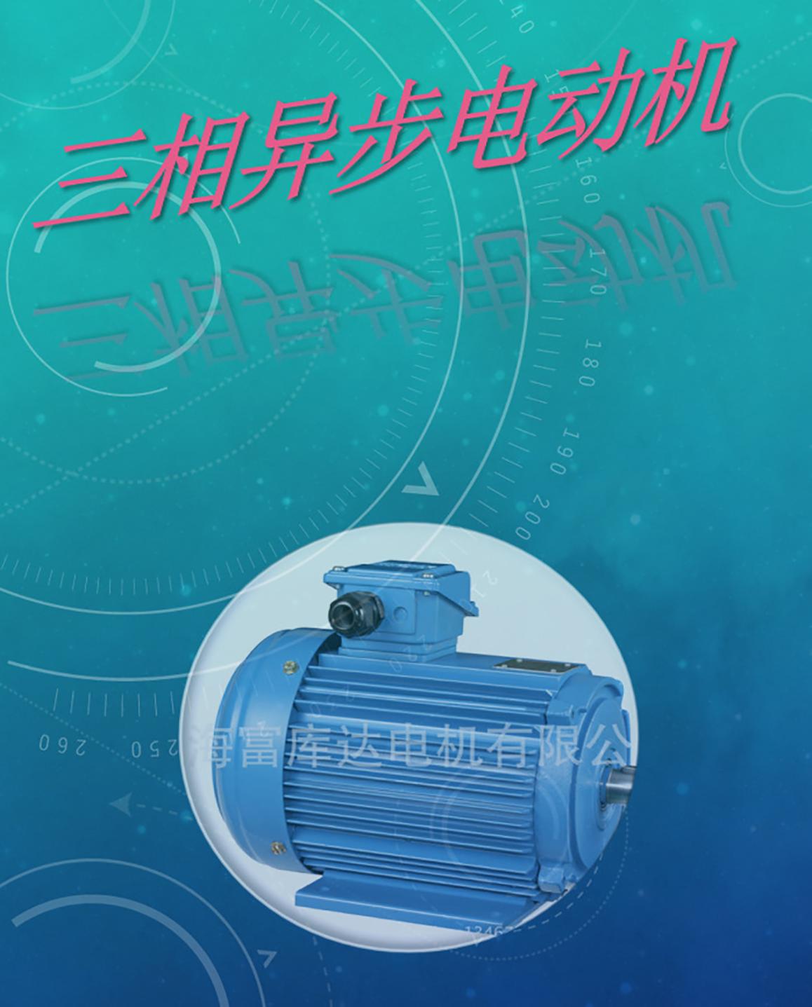 台湾富田电机三相感应立式铝壳马达AMVF-12HP-6P