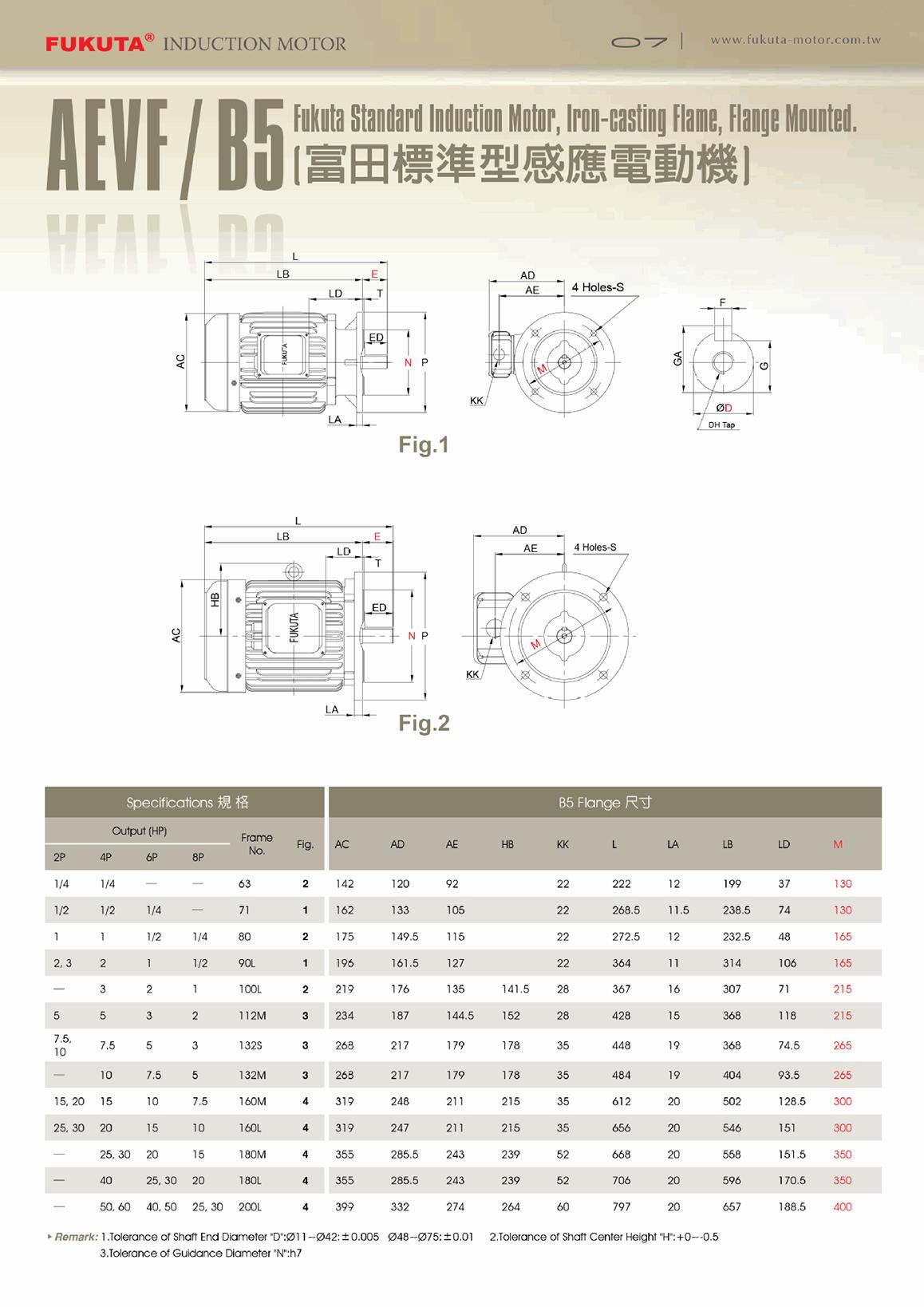 台湾富田电机立式铸铁变频马达AEVF