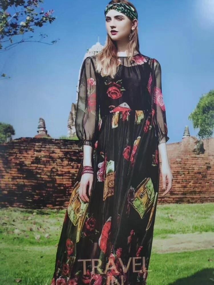 中时海创品牌女装折扣【丝辉印月】连衣裙20春装系列品牌上新