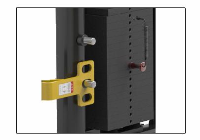 2组77.2kg纯钢质配重 醒目的黄色移动安全保护装置