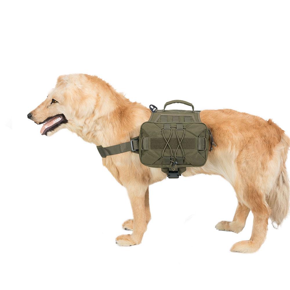 Dog Pack Dogs Saddle Bag for Travel Camping Hiking Medium & Large Dog with 2 Capacious Side Pockets