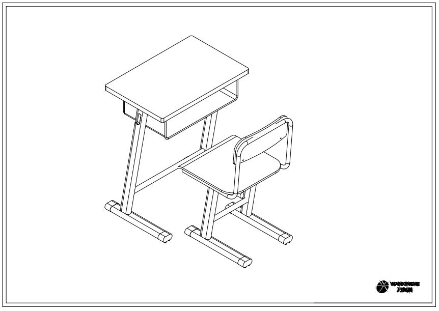 小学生固定课桌椅