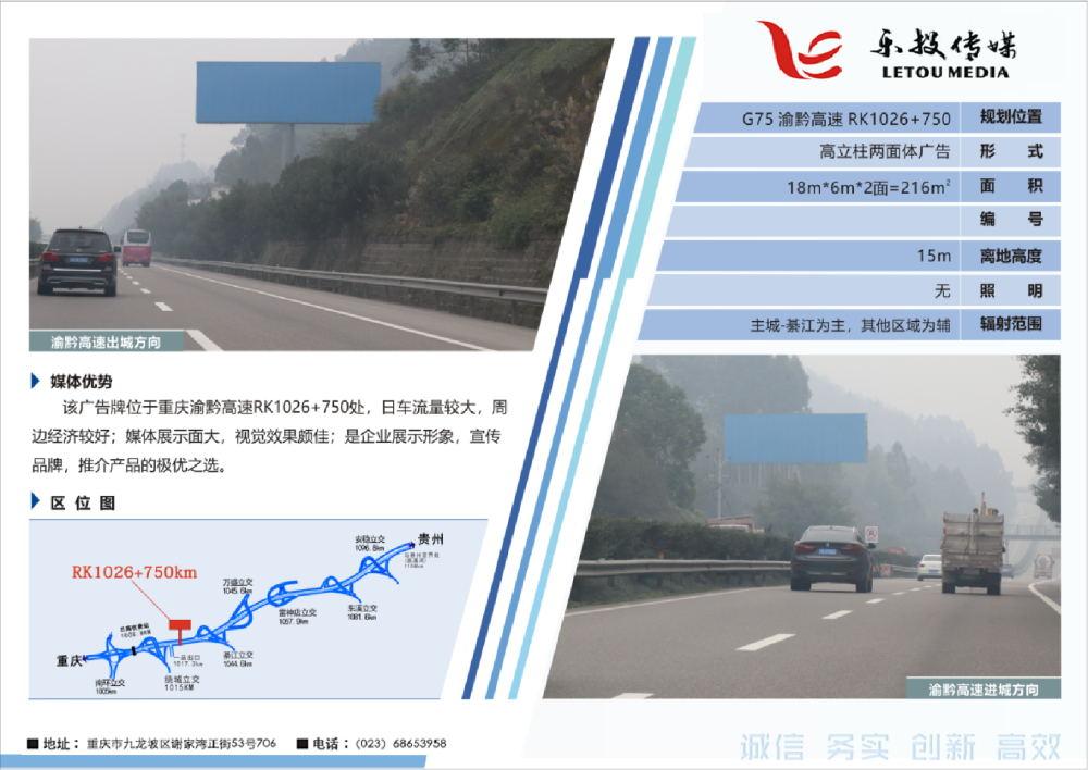 G75 渝黔高速路广告