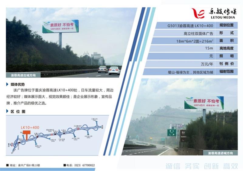G5013渝蓉高速广告案例