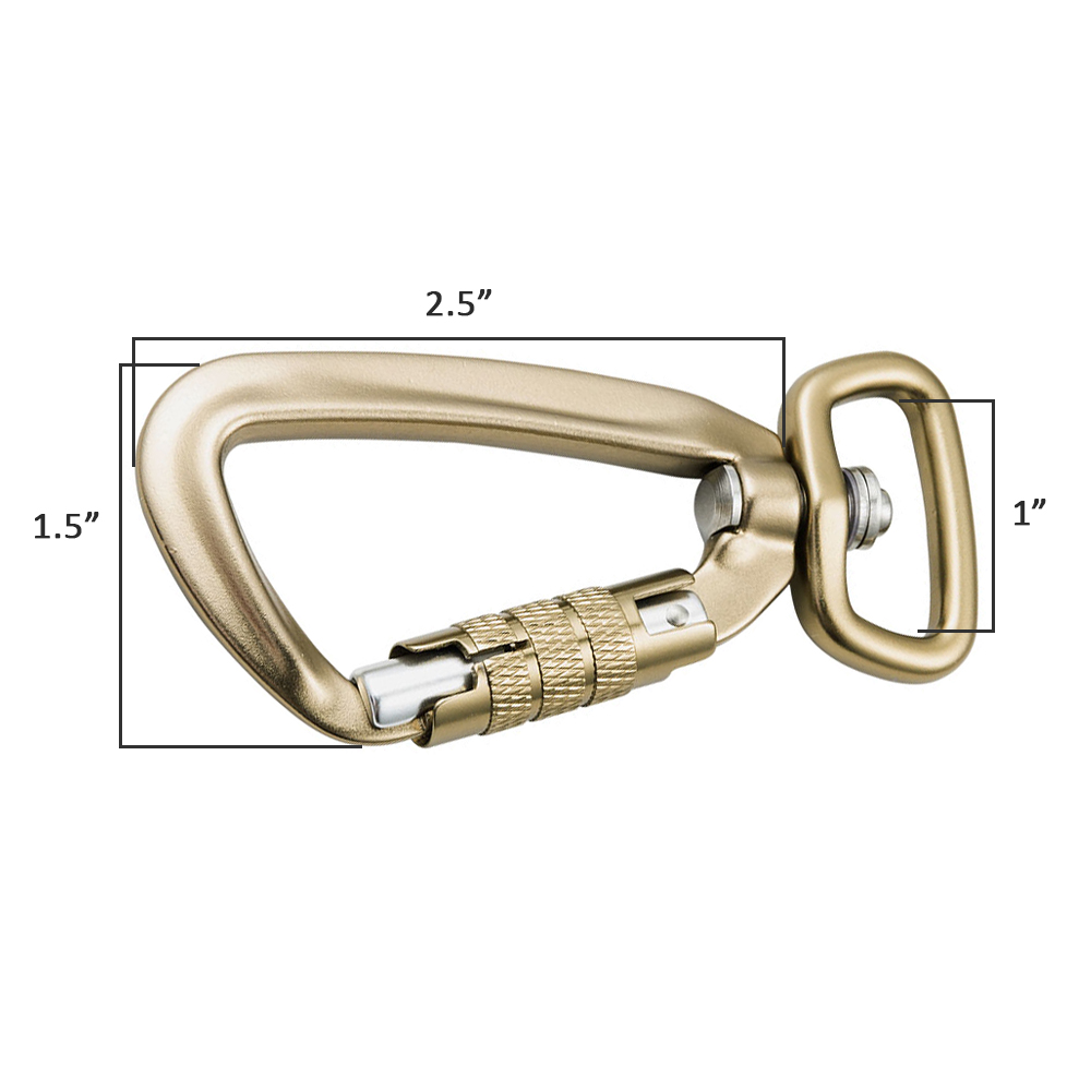 Carabiner Clip Key Ring D Shape Buckle Pack Improved Durable Climbing Locking Carabiner.(1PCS)
