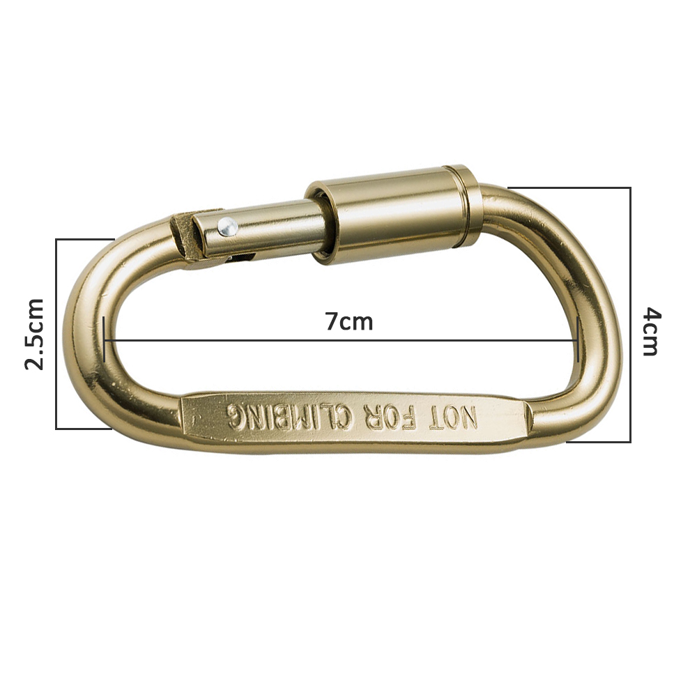 2 pcs Aluminum Carabiner Clip D-Ring Strong and Lightweight EDC Keychain Clip for Camping Fishing Hiking