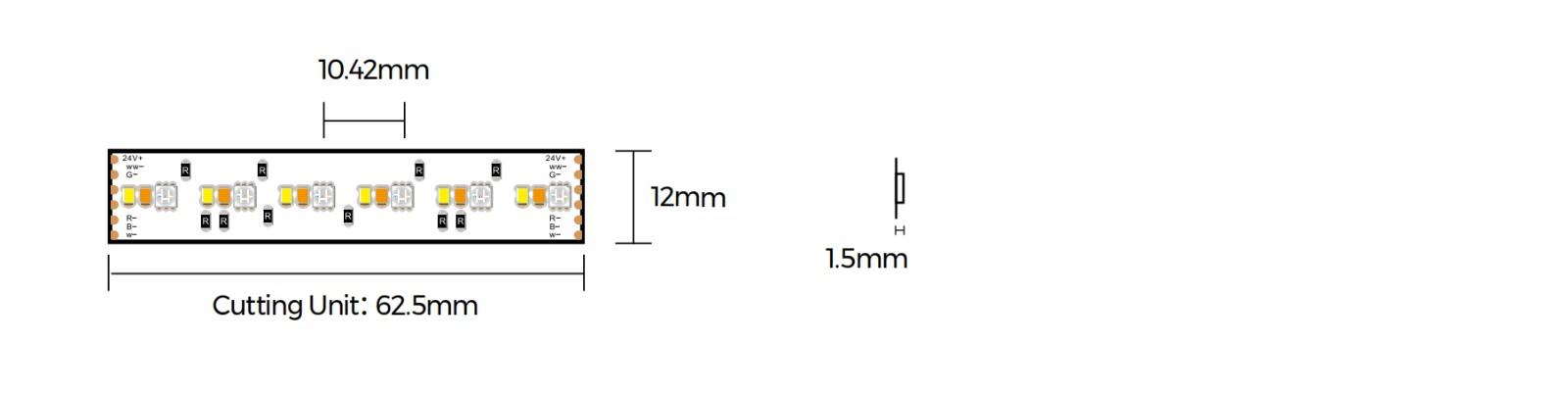 DA696RGBSWW-24V-12mm