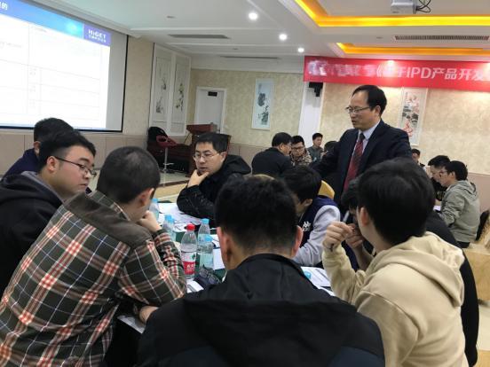 2019年12月21-22日 汉捷咨询为某光学元部件企业成功举办了为期2天的《基于IPD产品开发管理》培训