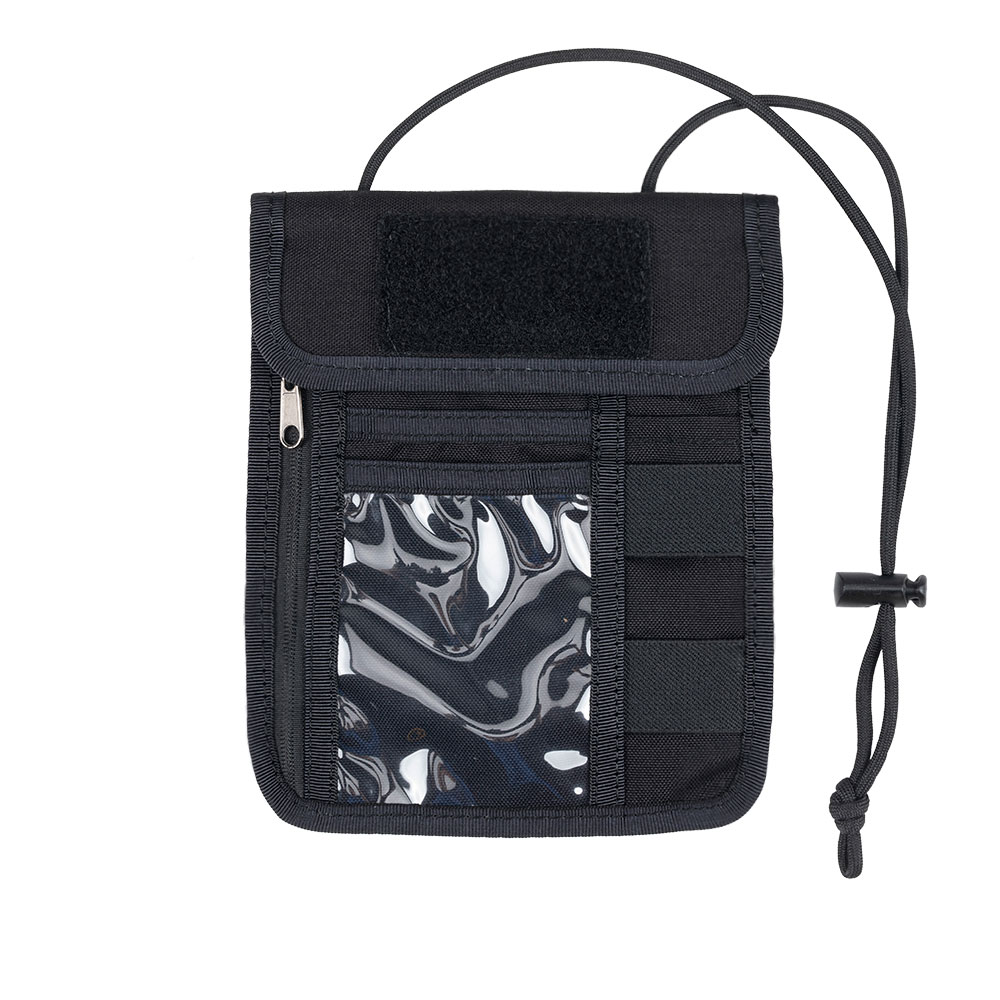 Tactical Multi-Function Anti-Theft Hidden Passport Wallet Document Bag Neck Lanyard Credit Card Storage