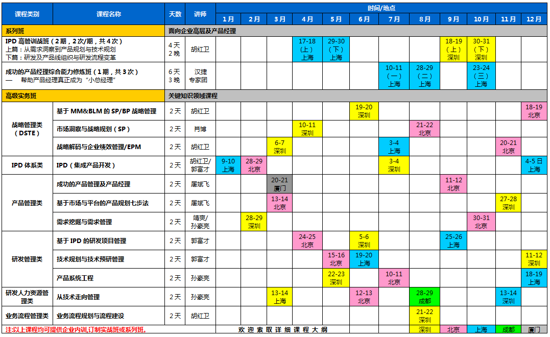 公开课计划表