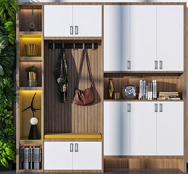 现代北欧鞋柜3d尺寸模型