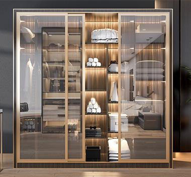 现代轻奢衣柜3d尺寸模型