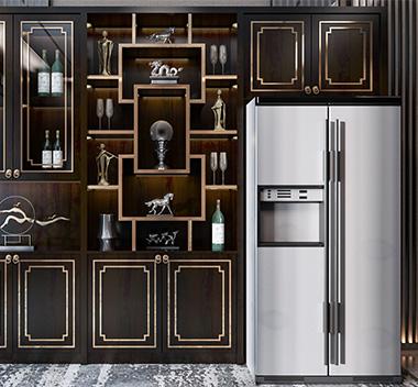 新中式酒柜3d尺寸模型