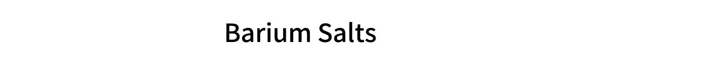 LeBarium® Barium Salts