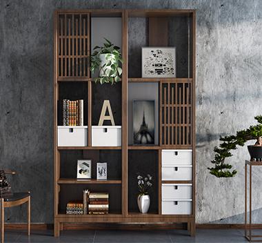 北欧书柜3d模型