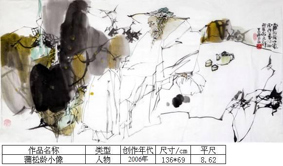 王西京11蒲松龄小像