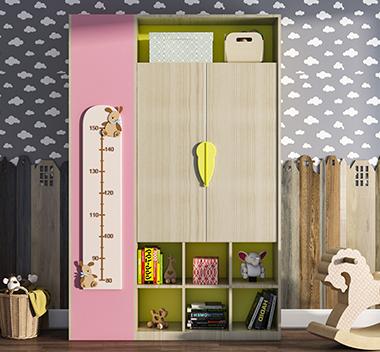 北欧儿童书柜3d尺寸模型
