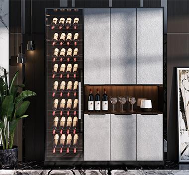 现代酒柜3d尺寸模型