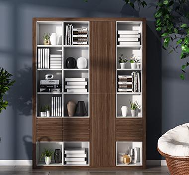 现代北欧书柜3d尺寸模型