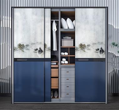 现代中式衣柜3d尺寸模型