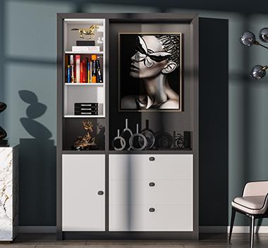 现代轻奢书柜3d尺寸模型