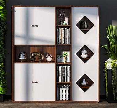 北欧书柜3d尺寸模型