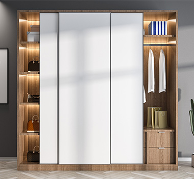 北欧衣柜3d尺寸模型