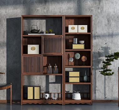 新中式书柜3d尺寸模型