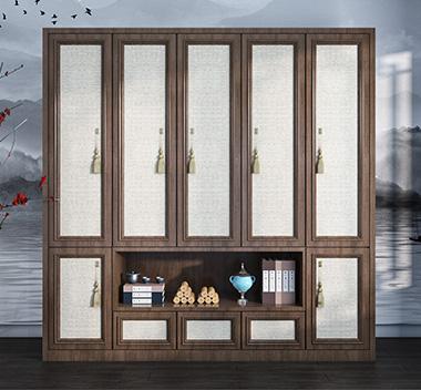 中式衣柜3d尺寸模型