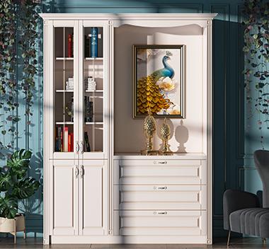 简欧书柜3d尺寸模型