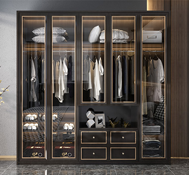 现代衣柜3d尺寸模型