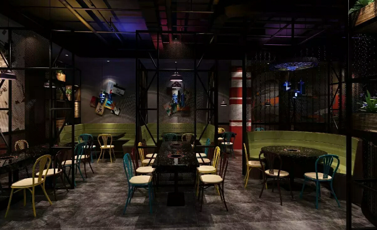 郑州餐厅设计师解读结构空间和开敞空间在工业风餐厅设计中的应用