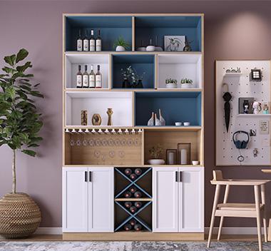 北欧实木酒柜3d尺寸模型