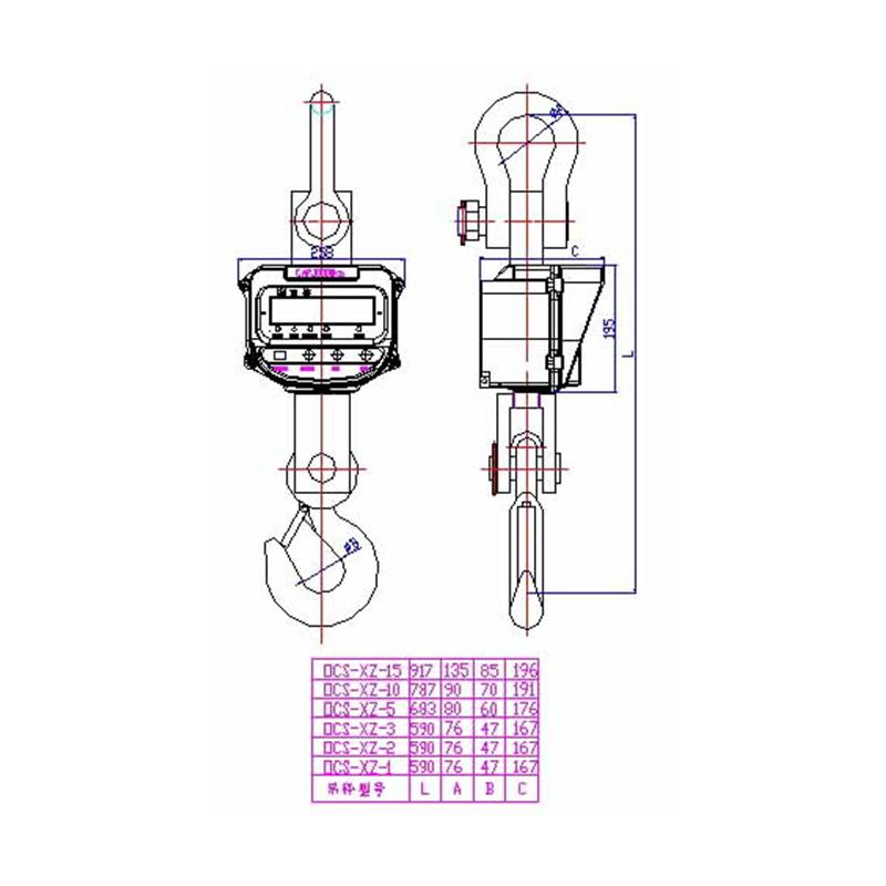 OCS-XZ-AAE(LUX)直视式电新疆11选五开奖号500子吊秤