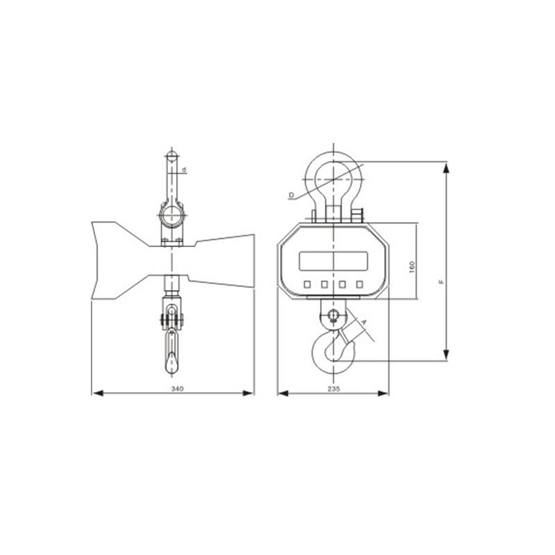 OCS-XZ-DCE直视式电子吊秤