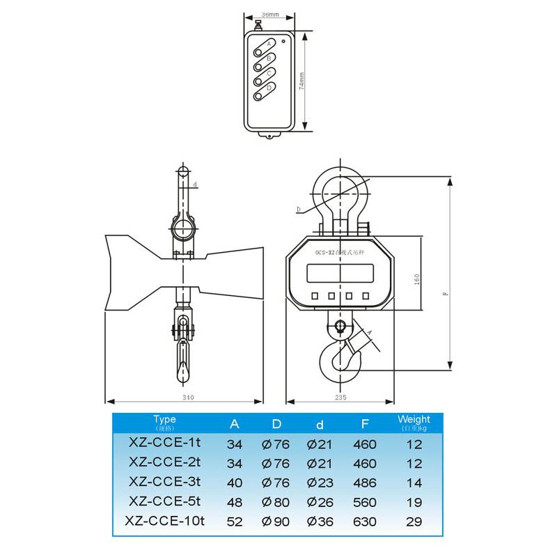 OCS-XZ-CCE(绿字)直视式电子吊新疆11选5走势图一秤