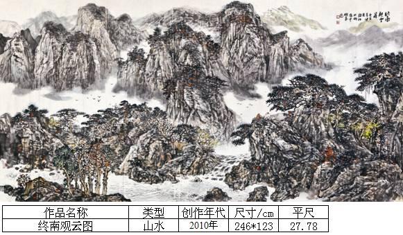 杨霜林20终南观云图
