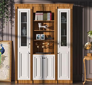 美式书柜3d尺寸模型