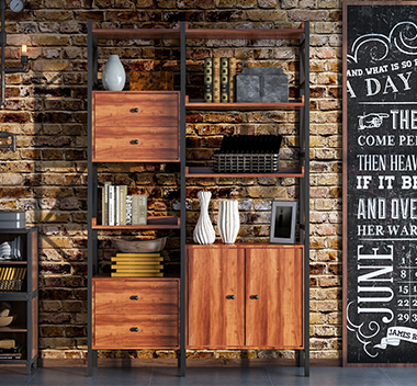 工业风书柜3d尺寸模型