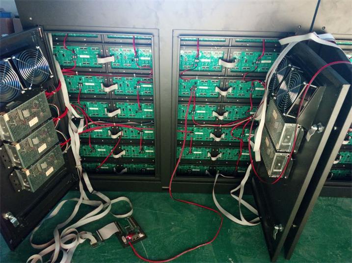 青岛市崂山一中LED双色显示屏专用P10户外双色模组