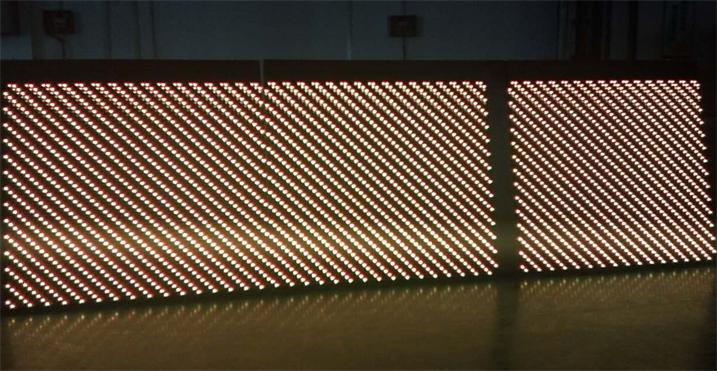 开封高中教学楼LED户外双色显示屏专用P10户外双色标箱体4扫